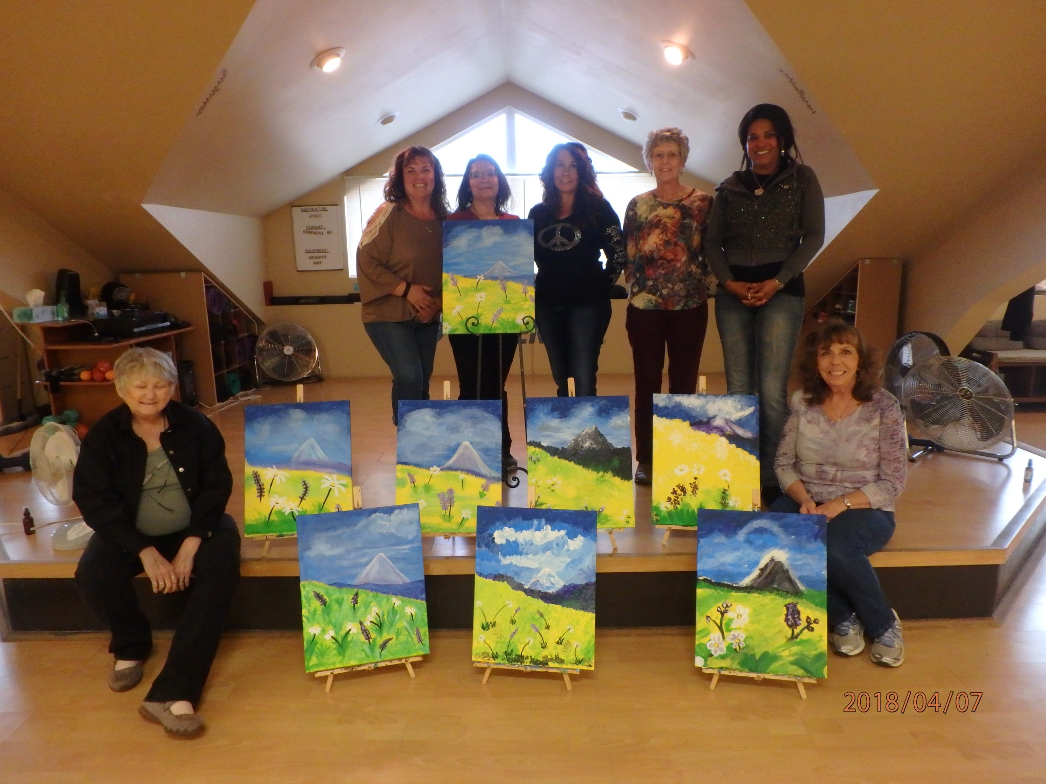 Mountain Women Painting Party Octobwer 2018